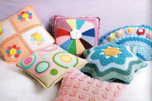 Pillows in Crochet