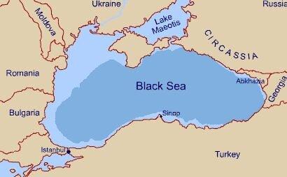 Geopolitical Games Around Greater Circassia - Abkhazia map black sea