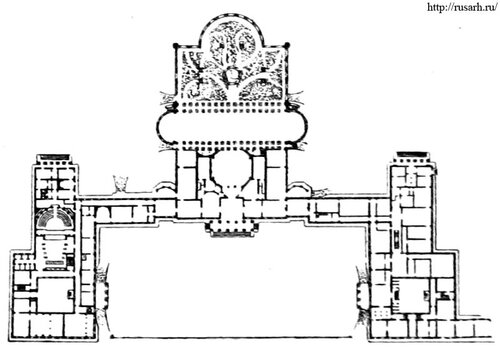 Таврический дворец, план, архитектор - Старов