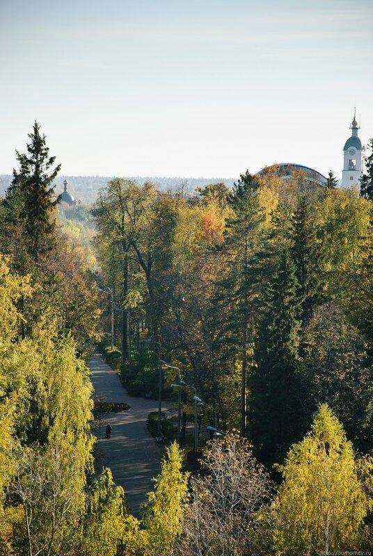дорога к парку, башня