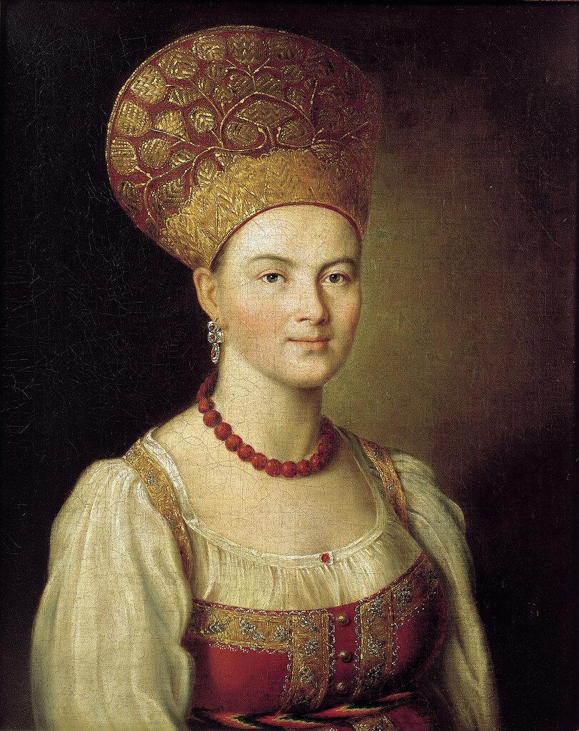 Аргунов И.П. Портрет неизвестной крестьянки в русском костюме. 1784