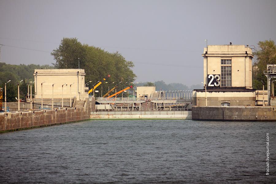 Шлюз №23 Жигулевского гидроузла. Нижние шлюзы.