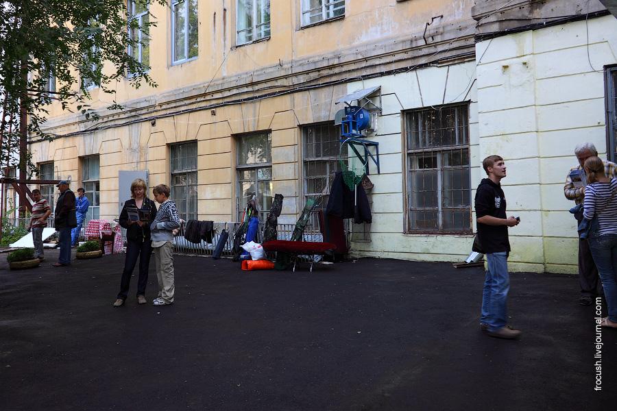 Внутренний двор Самарской государственной академии культуры и искусств. Здесь находится вход в бункер Сталина.