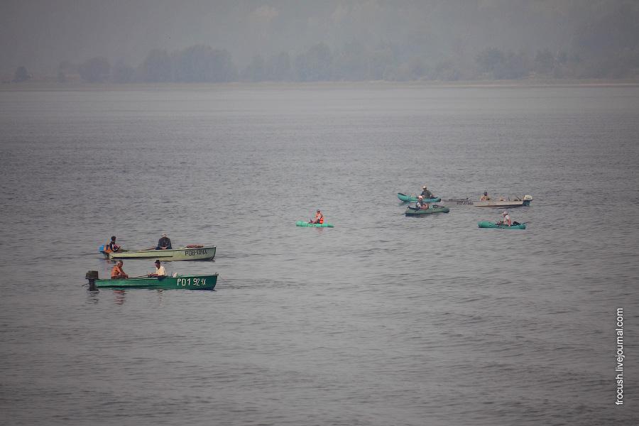 Рыбаки в районе Волжска