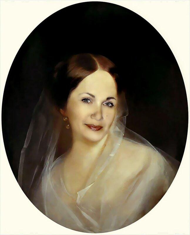"""Оригинал - Схема вышивки  """"Портрет женщины """" - Схемы автора  """"Ilena """" - Вышивка крестом."""