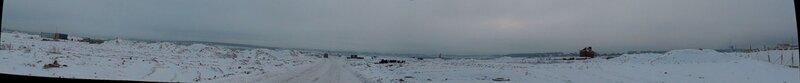 Панорамный вид их центральной части на правую часть Новорижского