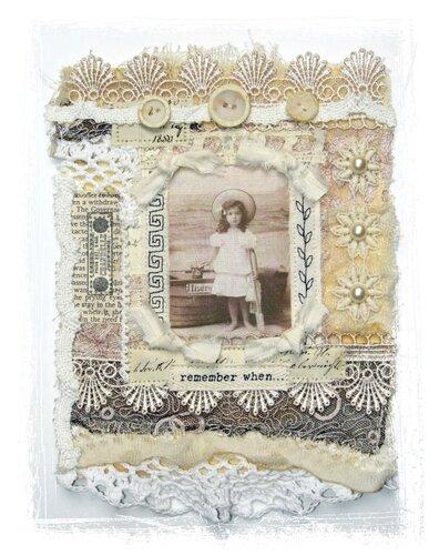 открытки из ткани: