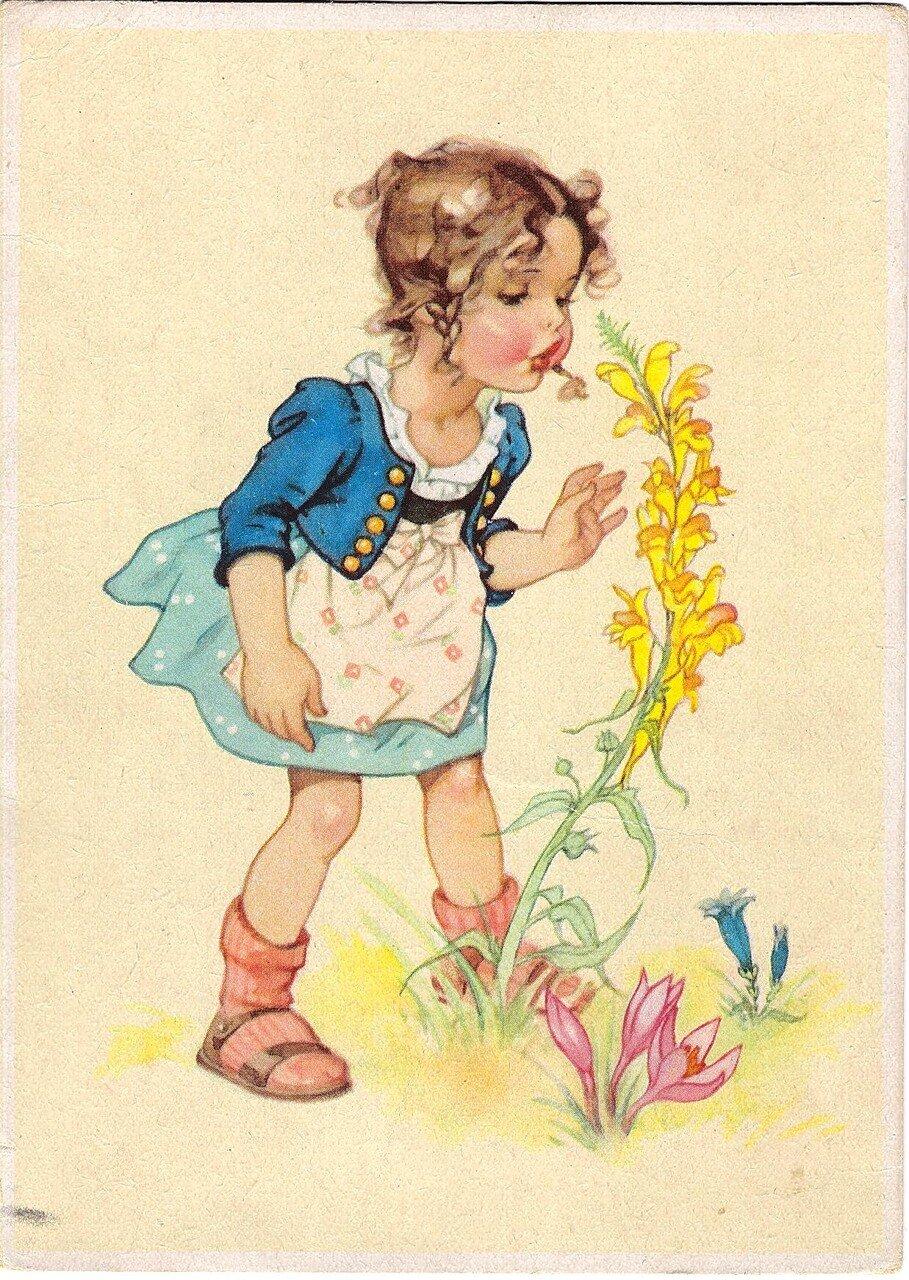 Немецкая открытка и поздравление