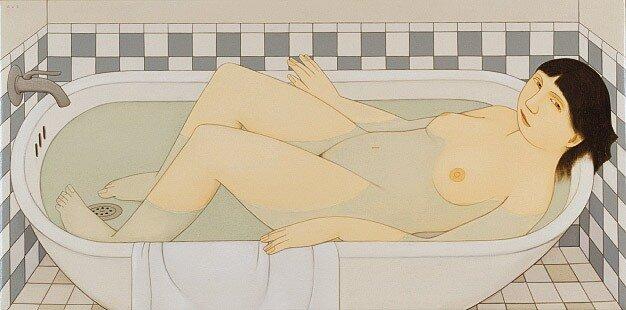 Loretta in the Bath, 2002, Andrew Stevovich