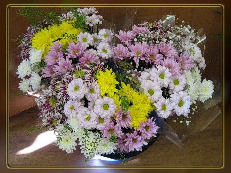 Букет хризантем открытки 15