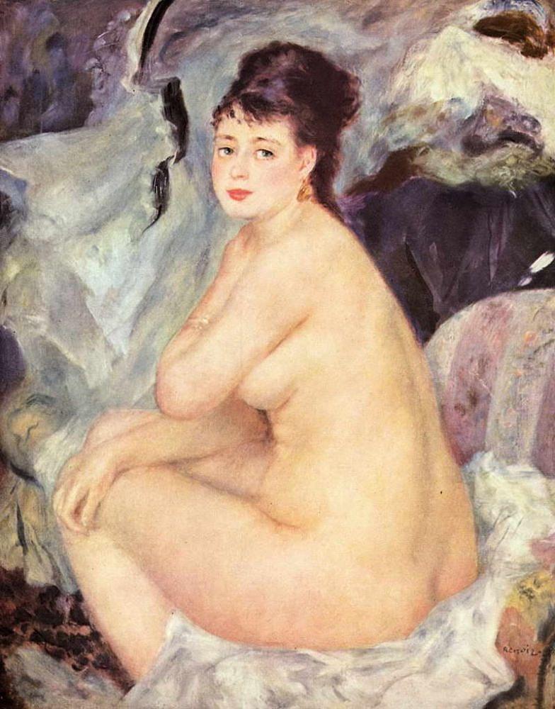 Обнаженная (Анна) (1876) Ренуар, Пьер Огюст,(1841—1919) ГМИИ им. А.С. Пушкина;