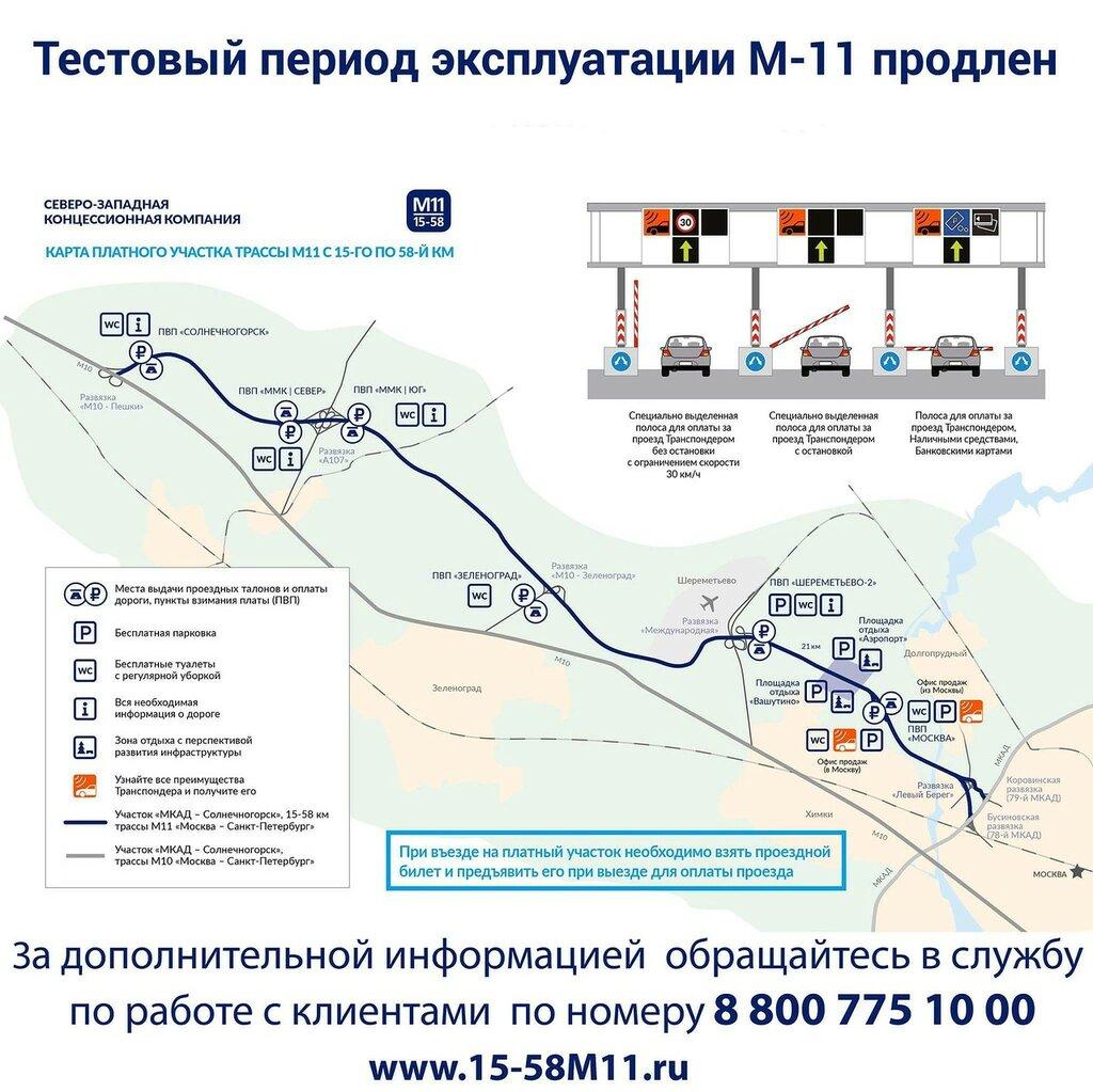 схема платной скоростной трассы москва- санкт-петербург