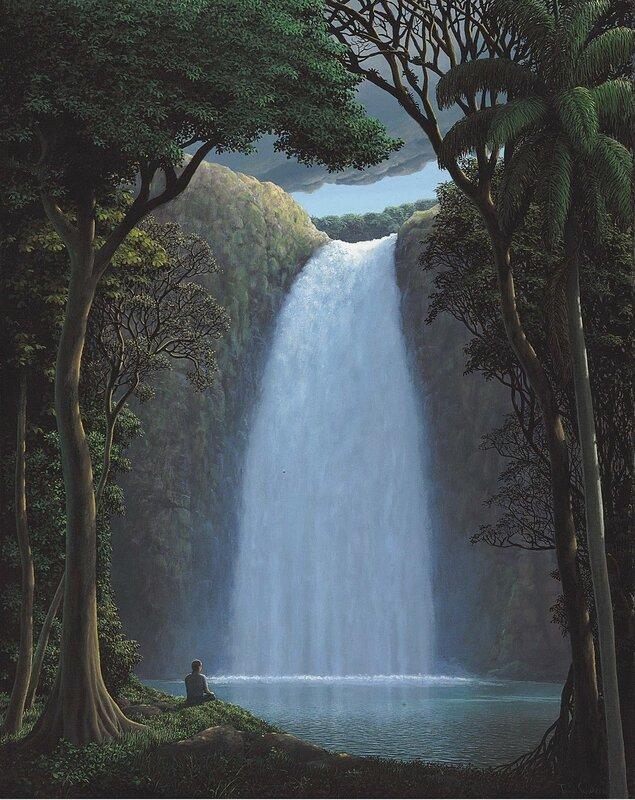 1996_Свет над водопадом (La luz sobre la cascada)_70.5 x 55.8_холст, акрил_Томас Санчес.jpg