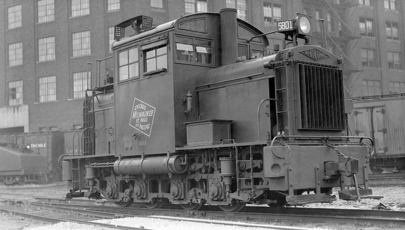 Chicago, Milwaukee, St. Paul & Pacific locomotive, engine number 5801, engine type Whitcomb 90-Ton, Chicago, Ill., September 26, 1935