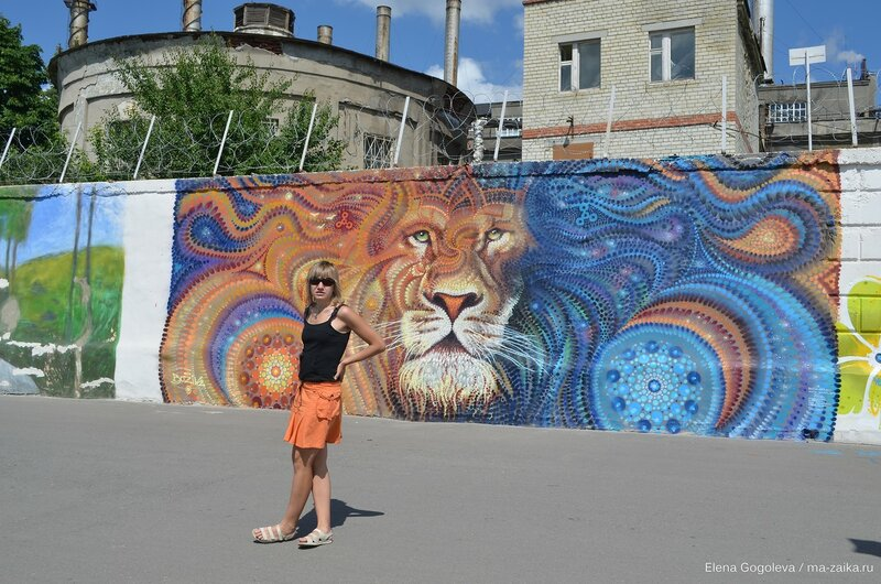 Фото со львом, Саратов, Новая Набережная, 02 июля 2015 года