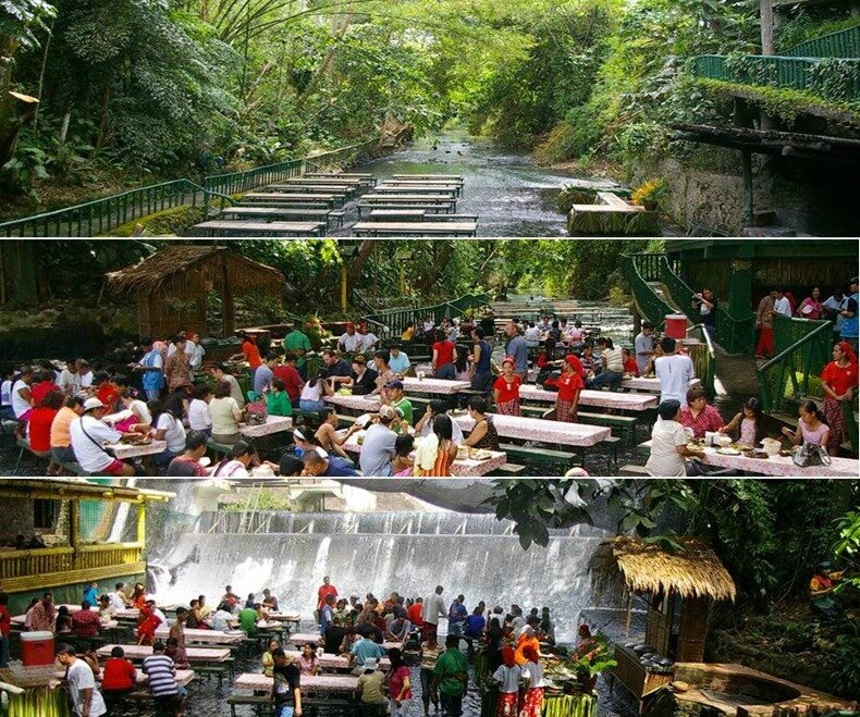 водопад ресторан