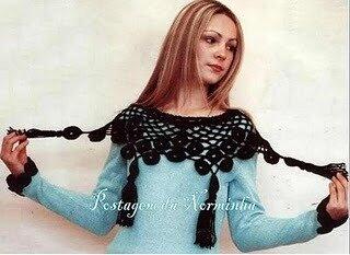 Красивая пелерина крючком+схемы, связать свитер для мальчика.