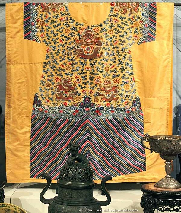 Купон халата лунпао императора Гуансюя. Китай, кон. XIX в.