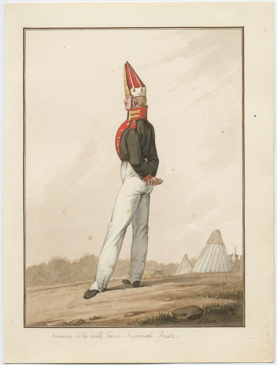 Гренадер старой русской императорской гвардии, 1815