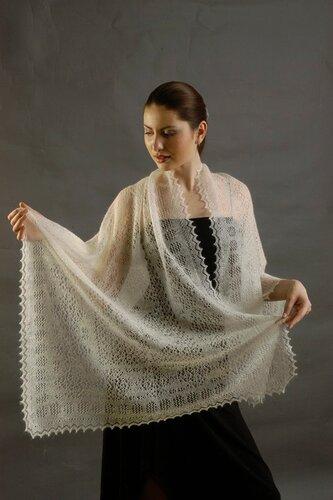 Вязание пуховой косынки схема