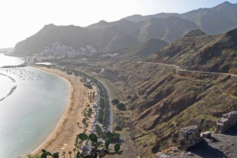 Тенерифе, вид на пляж Лас Тереситас