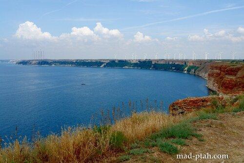 калиакра, болгария, путешествие, ветрогенераторы