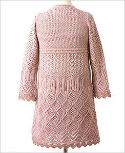 вязание платья спицами на полных с описанием. вязание спицами платья с...