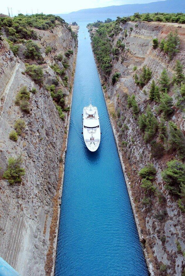 Коринфский канал. Греция