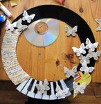 recycling work: round photo frame tutorial