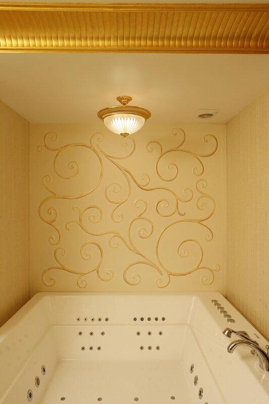 Дизайн комнат с штукатуркой