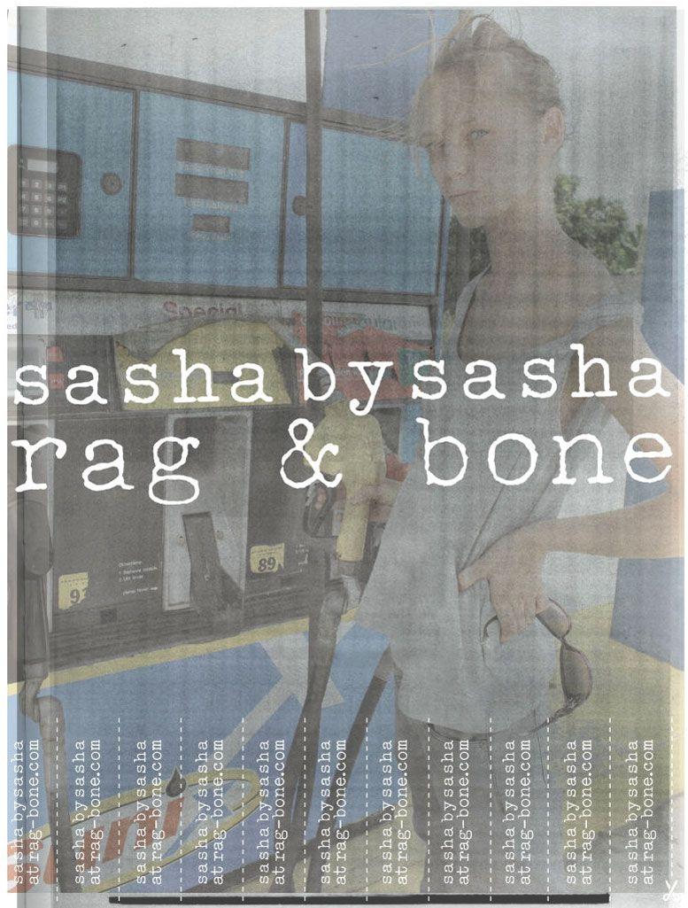 Саша Пивоварова / Sasha Pivovarova for Rag and Bone spring 2011