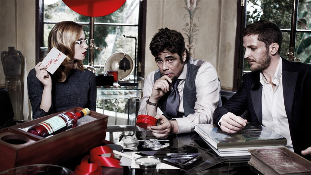 Бенисио дель Торо / Campari The Red Affair 2011 calendar - Benicio del Toro by Michel Compte - январь