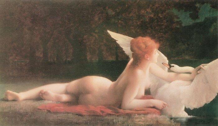 Leda with the Swan by Pol Prosper Teler