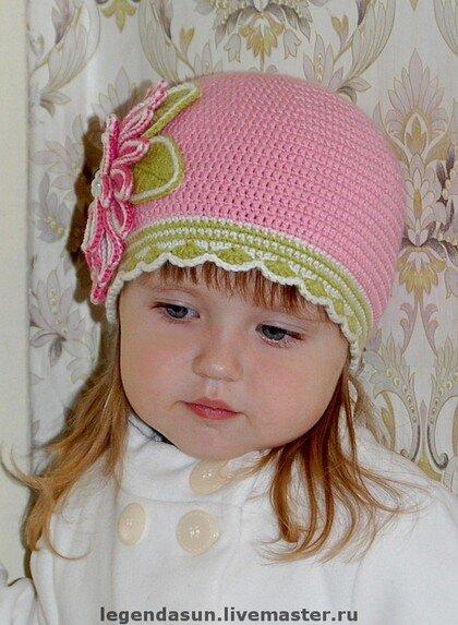 вязание крючком летняя шляпка для девочки.