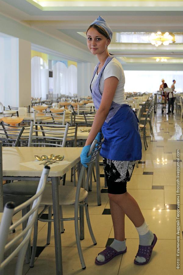 работница столовой лагеря Приморский