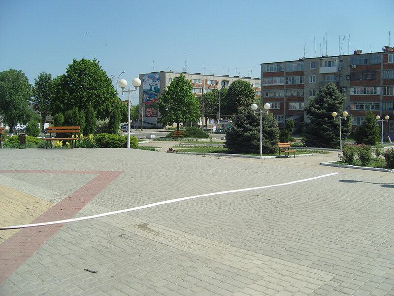 Усть-ЛабИнск. Центральный сквер