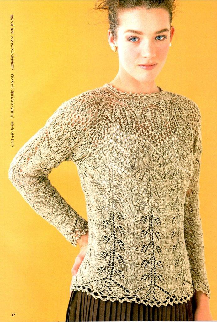 Ажурные кофточки вязание на спицах