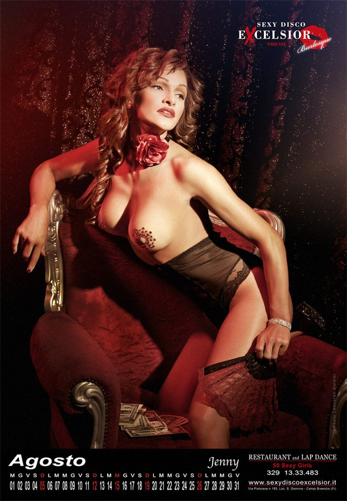 Эротический календарь ресторана Sexy Disco Excelsior Florence на 2012 год