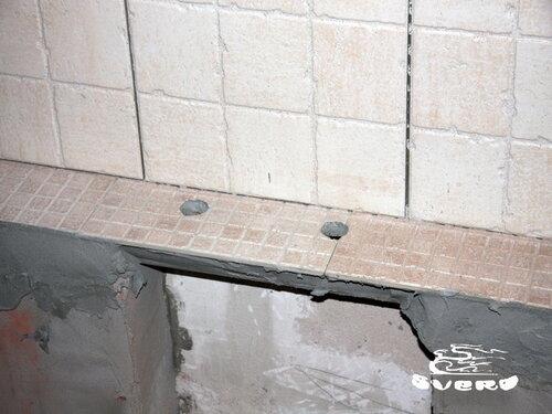 облицовка плитки под смеситель для ванны