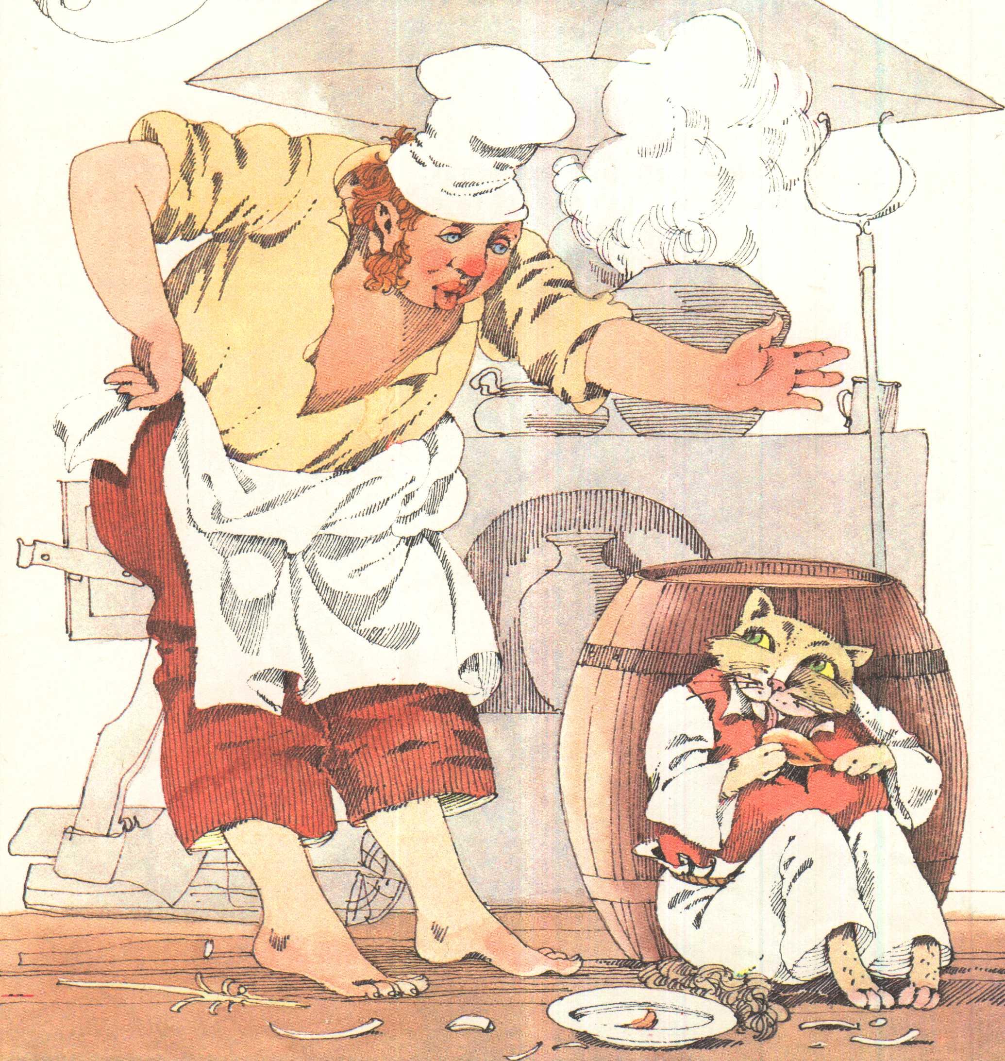 и басне повар к крылова кот рисунок