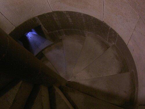 Wendeltreppe, Blick nach unten