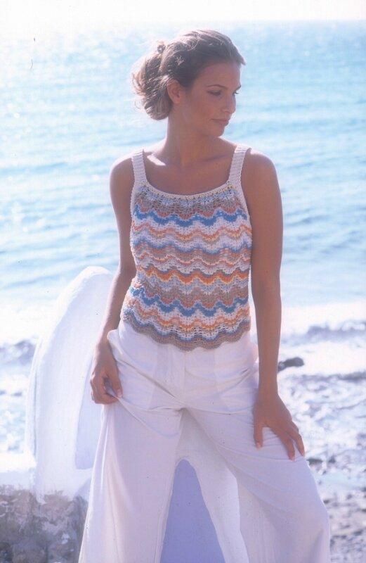 Вязание на спицах летний топик ажурный