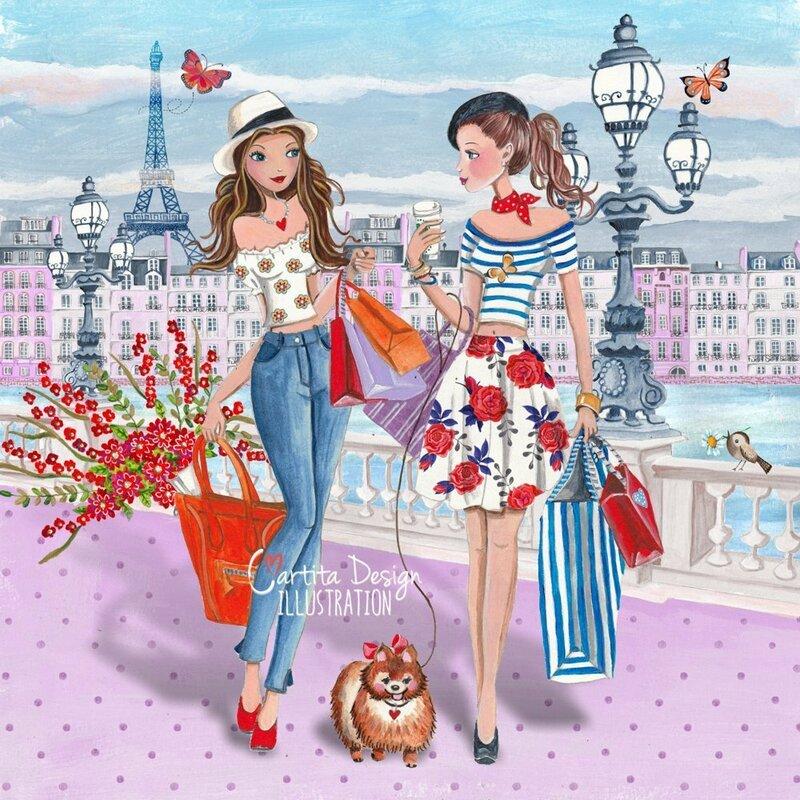 Для девушек в жизни немногое надо...Caroline Bonne-Muller художник - иллюстратор