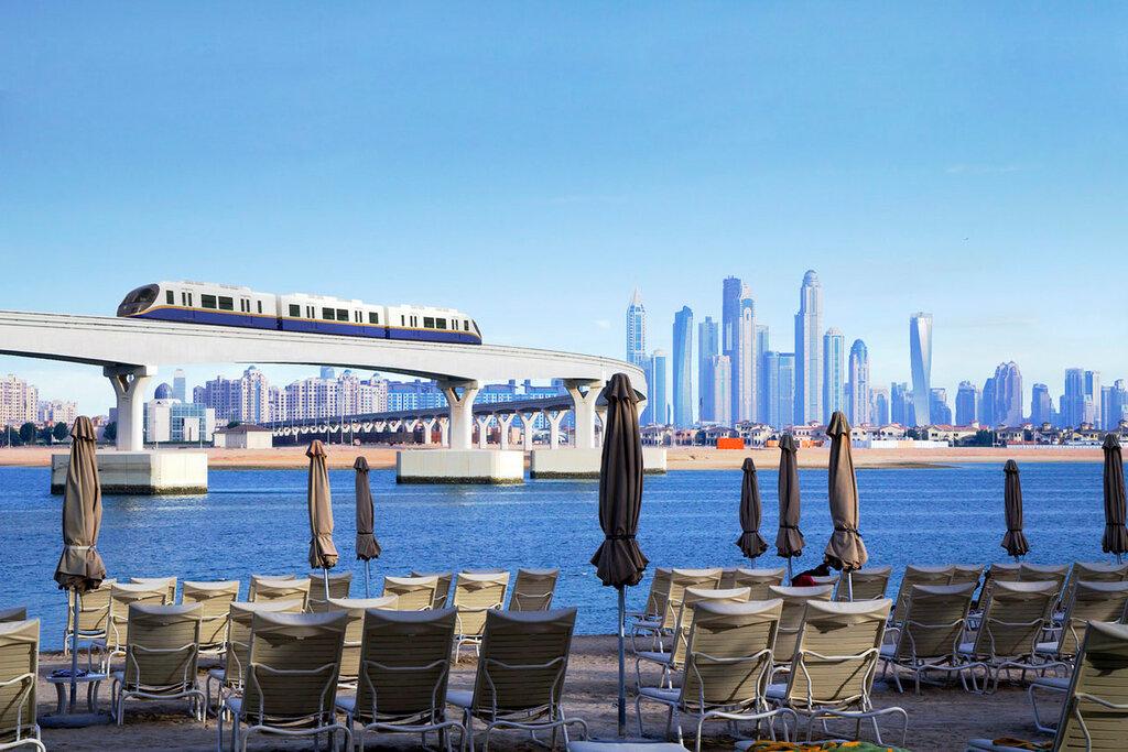 UAE  Monotrilho no Palm Jumeirah.