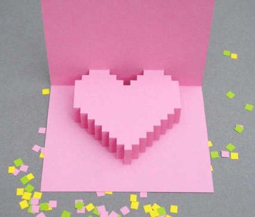 Открытка своими руками ко Дню Святого Валентина