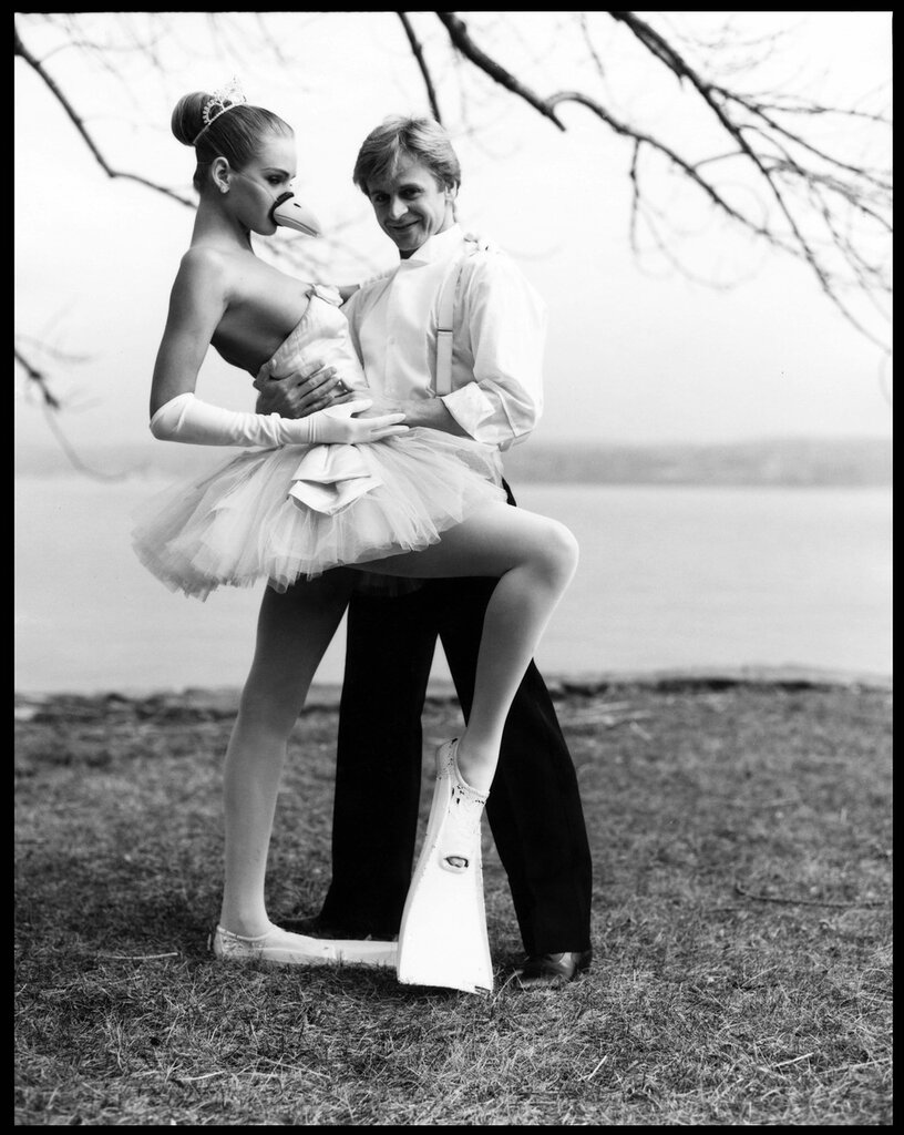 Arthur Elgort, Uma Thurman with Baryshnikov, The Swan Prince, 1987