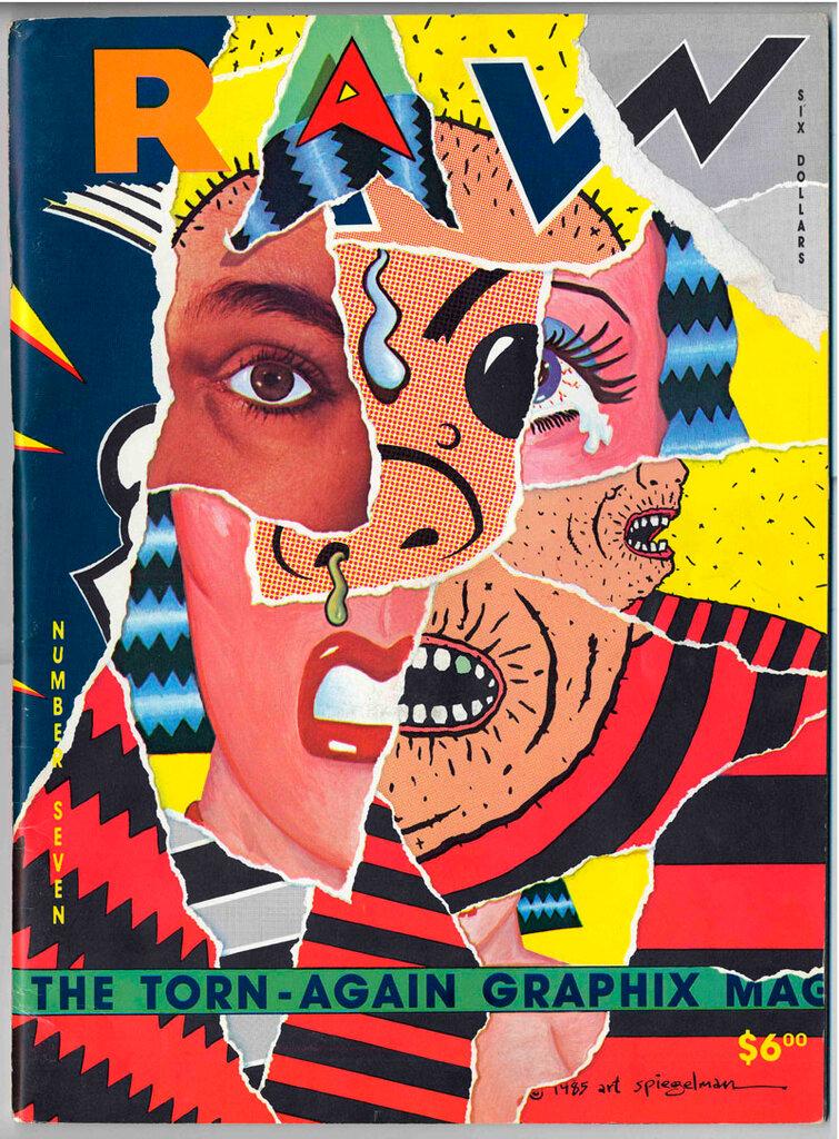 RAW magazine cover by  Spiegelman (1985)