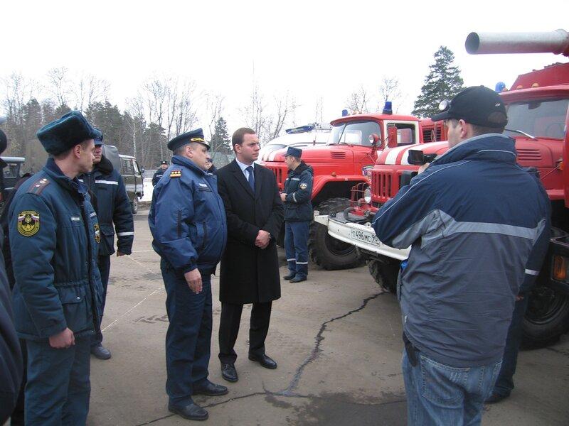 7 апреля 2011 в Одинцовском районе прошли учения, посвященные предупреждению и тушению лесных пожаров.