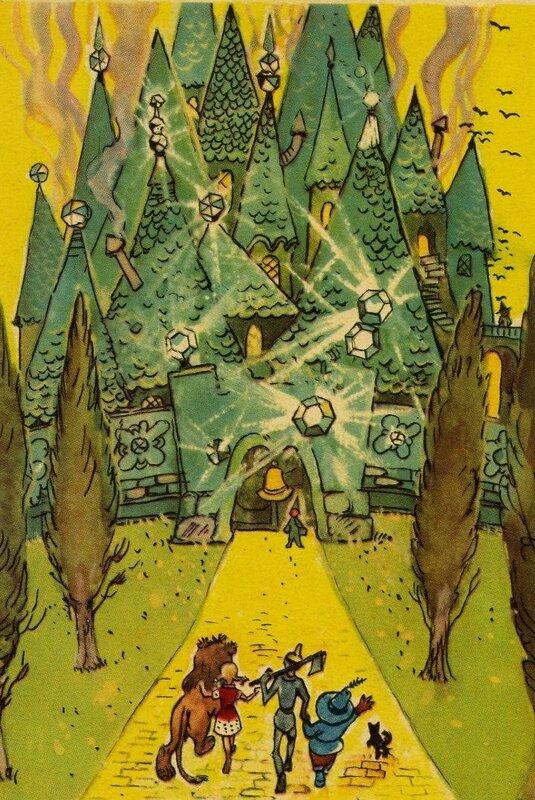 Как нарисовать иллюстрацию к волшебники изумрудного города