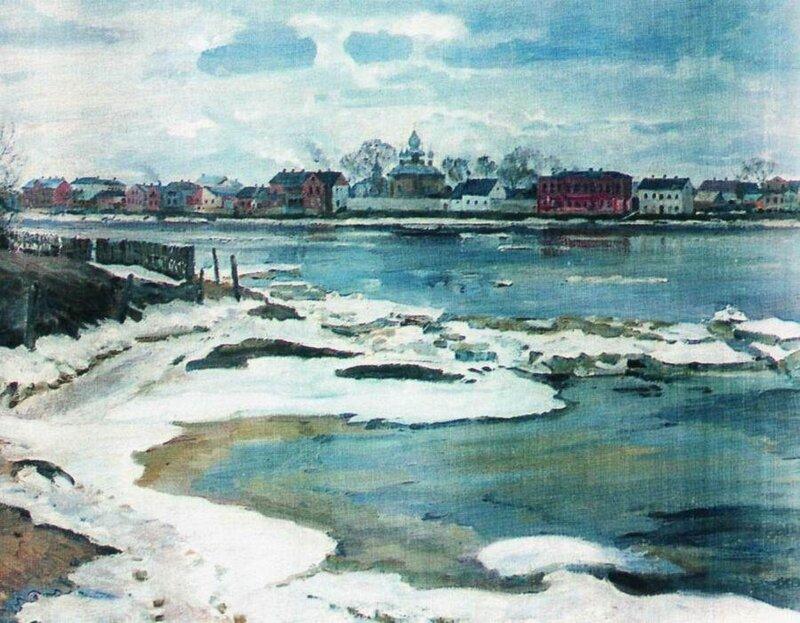 Сергей Арсеньевич Виноградов  (1870-1938). Ледоход на Двине. 1927